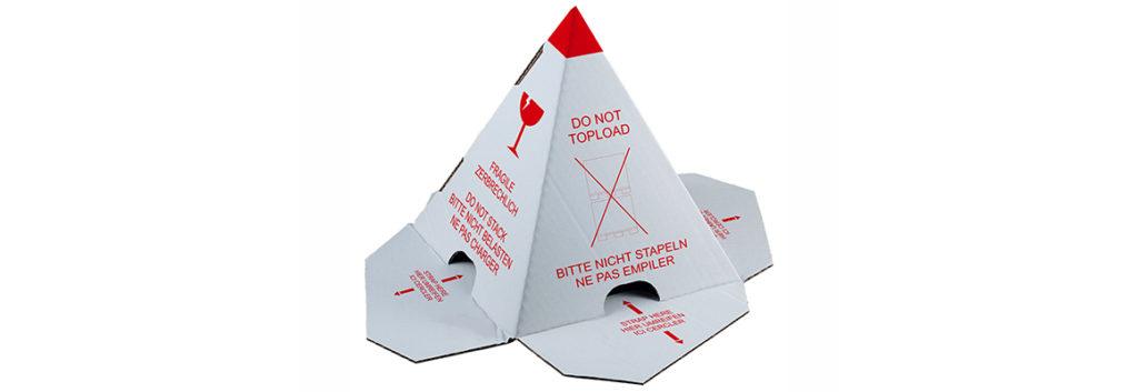 Palettenhütchen / Stapelschutzpyramide